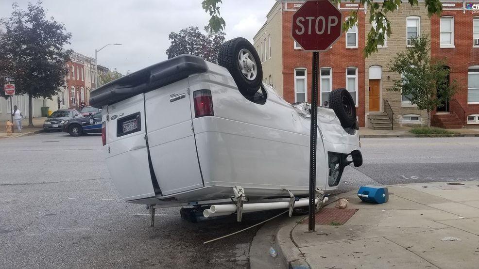 Juvenile arrested after armed car theft, crash in Baltimore
