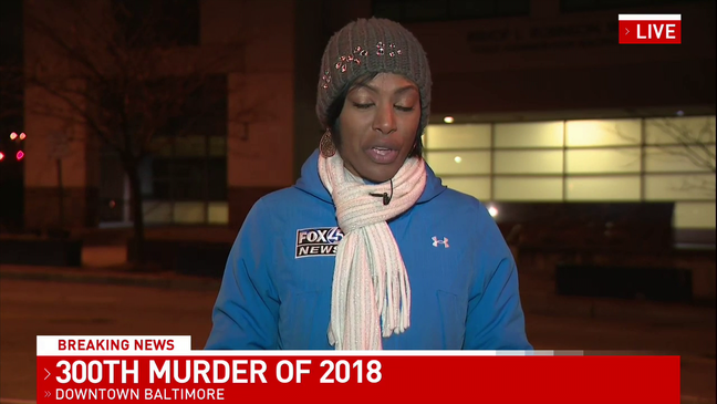 BREAKING: Baltimore reaches its 300th homicide Wednesday