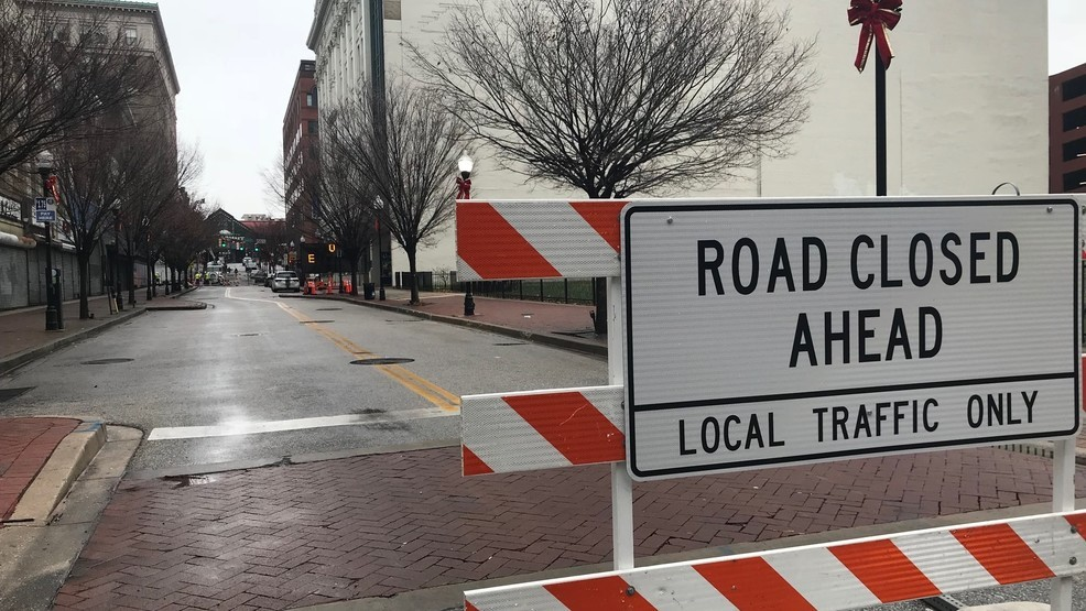 Road closures go into effect Wednesday afternoon for
